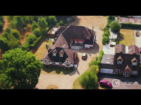 Aerial photography of country house.