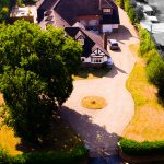 Aerial estate photography.