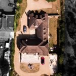 Aerial property photography, aerial view of house.