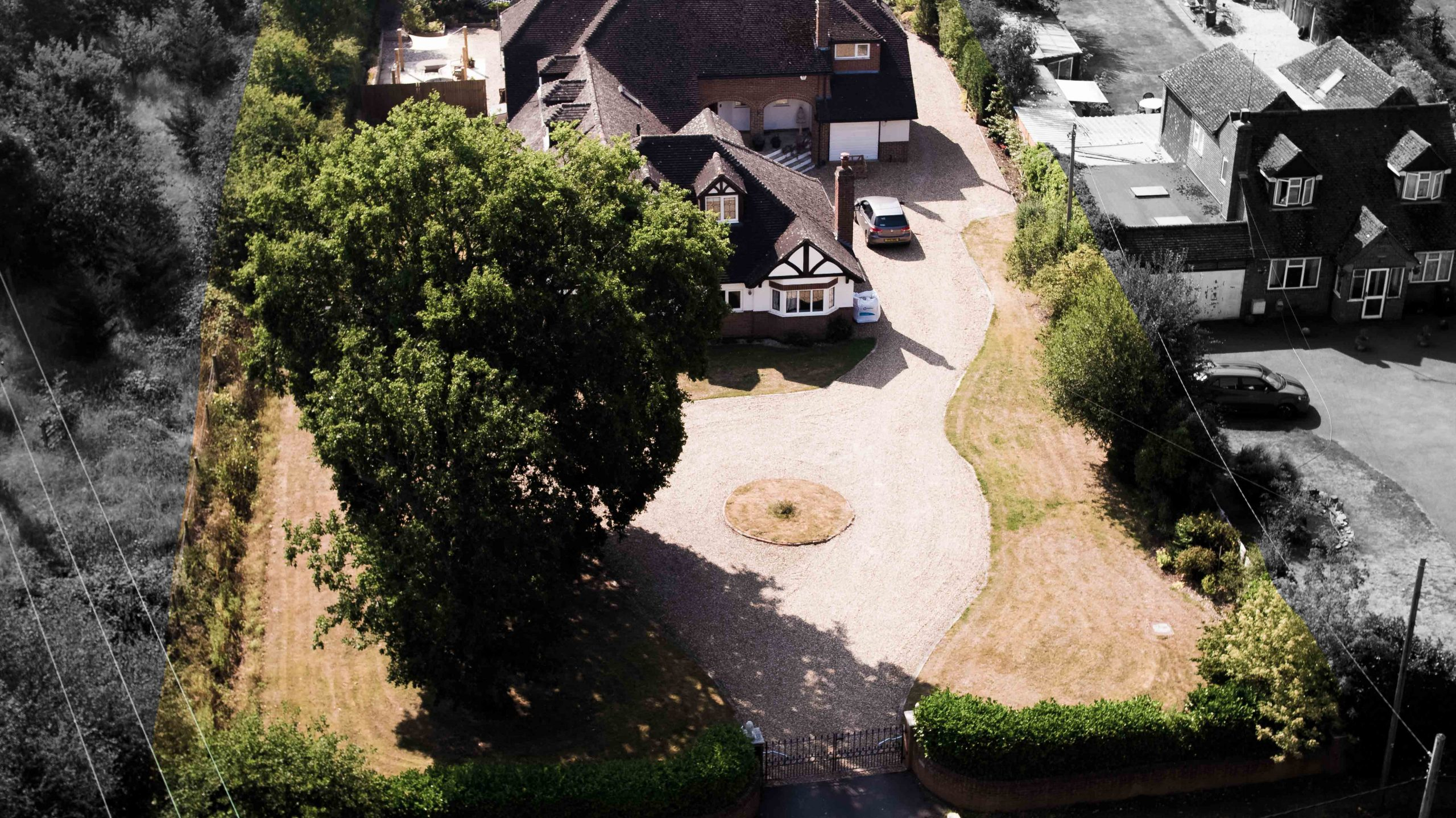 Drone aerial property photography