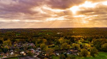 aerial photography, landscape, scenic, sunset